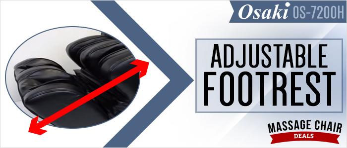 Footrest Adjusts Automatically Based On Leg Length!
