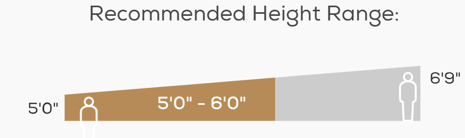 Human Touch iJOY Height Range