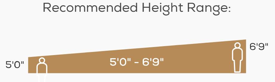 Novo XT2 Height Range