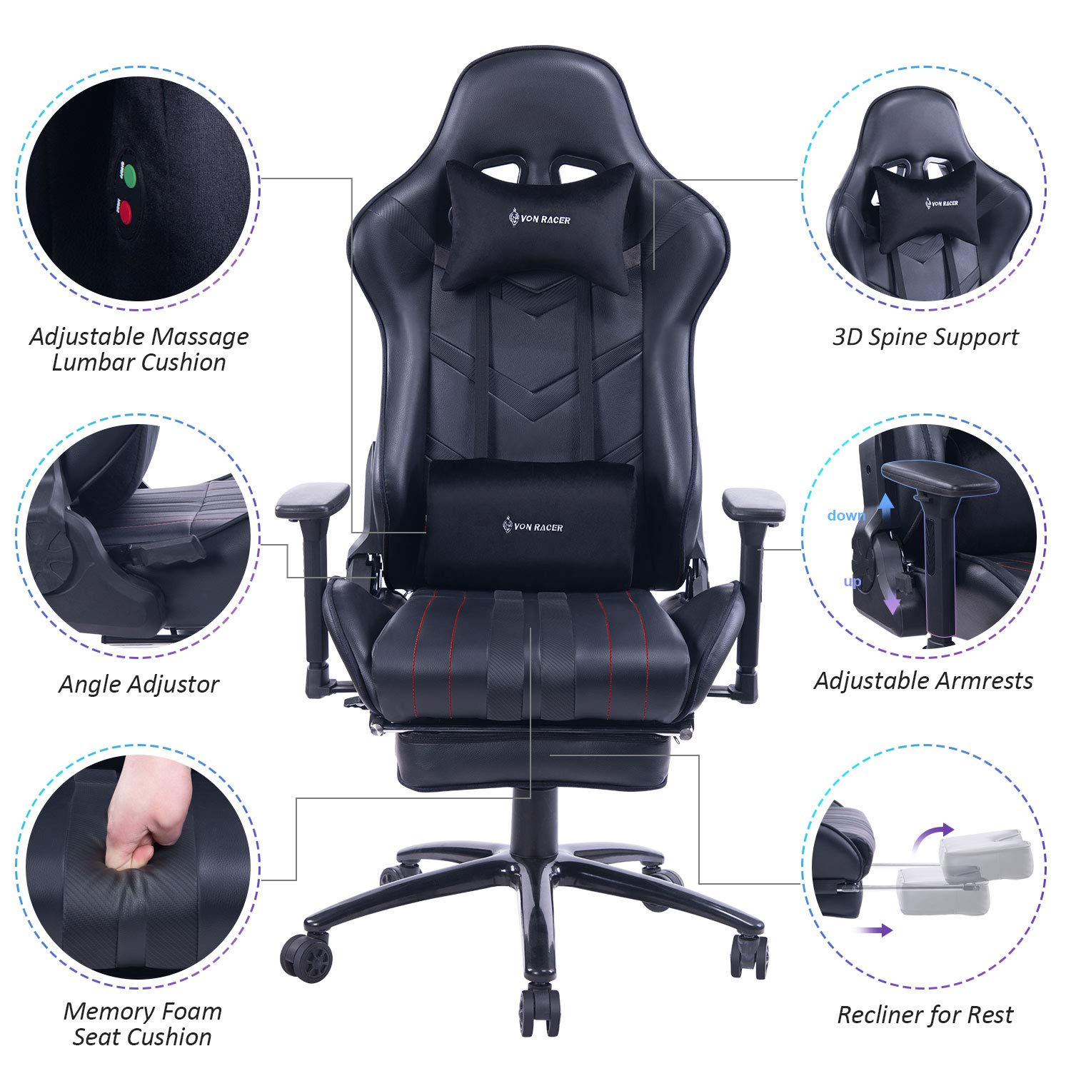 outlet online on feet images of fashion style 3 Best Gaming Massage Chairs On Amazon! | Massagers-And-More