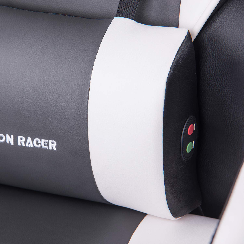 Vibrational Massager Implanted Inside Lumbar Cushion