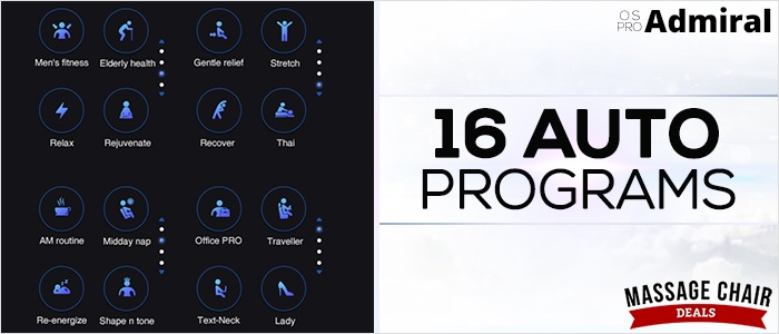 Osaki OS Pro Admiral 16 Auto Modes