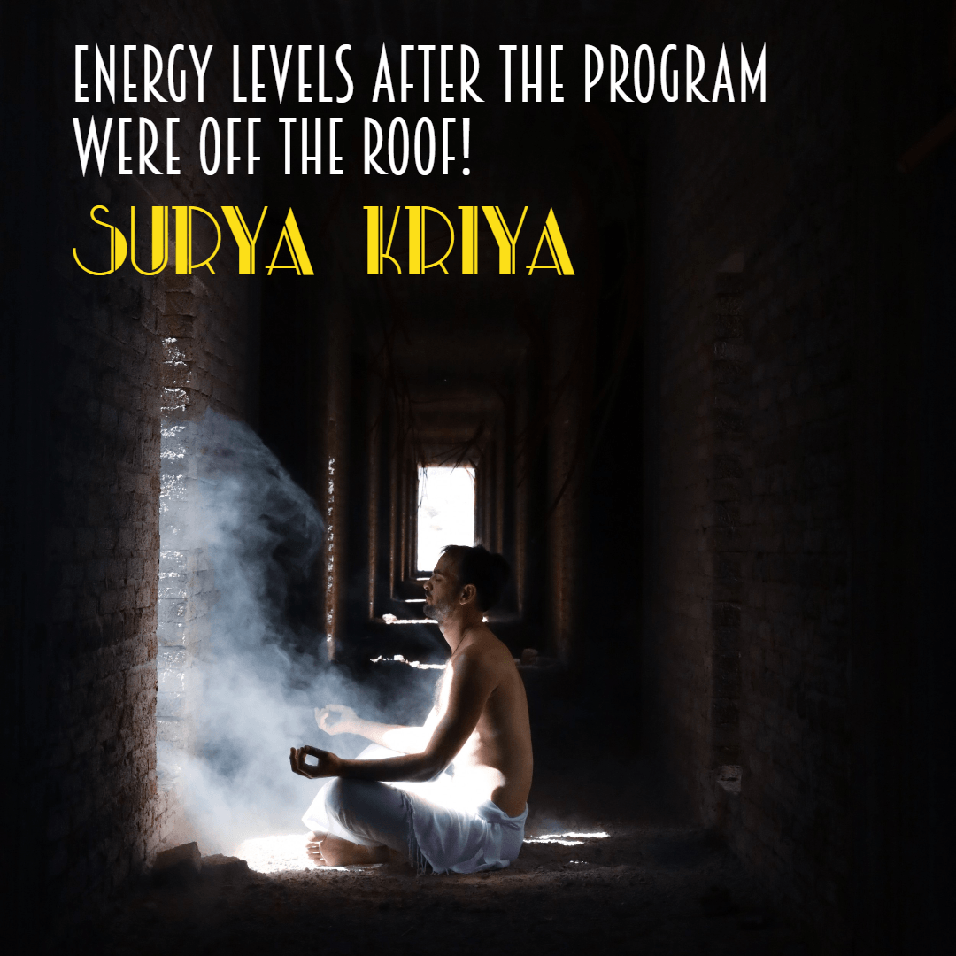 Surya Kriya Energy Levels