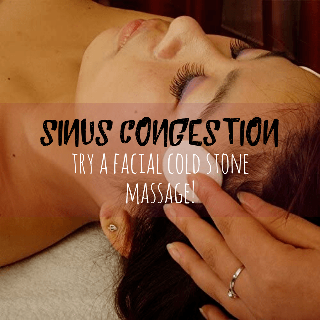 Cold Stone Massage For Sinus Congestion