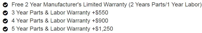 Daiwa Hubble Warranty Options